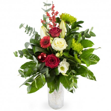 Magical Christmas Wishes Vase of Flowers