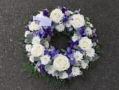 Rose and Iris Wreath